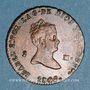 Monnaies Espagne. Isabelle II (1833-1868). 2 maravedis 1845. Ségovie