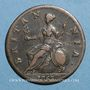 Monnaies Grande Bretagne. Georges II (1727-1760). 1/2 penny 1753