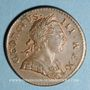 Monnaies Grande Bretagne. Georges III (1760-1820). Halfpenny 1771