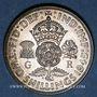 Monnaies Grande Bretagne. Georges VI (1936-1952). 1 florin (= 2shillings) 1945