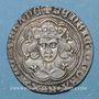 Monnaies Grande Bretagne. Henri VI, 1er règne (1422-1461). Gros. Calais (1430-1431)