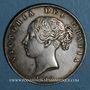 Monnaies Grande Bretagne. Victoria (1837-1901). 1/2 crown 1848