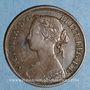 Monnaies Grande Bretagne. Victoria (1837-1901). 1 farthing 1860