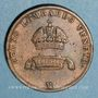 Monnaies Italie. Lombardie-Vénétie. François Joseph I (1849-1866). 5 centesimi 1849 M. Milan
