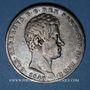 Monnaies Italie. Sardaigne. Charles Albert (1831-1849). 5 lires 1840P Gênes
