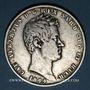Monnaies Italie. Sardaigne. Charles Albert (1831-1849). 5 lires 1844P Turin
