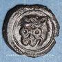 Monnaies Italie. Sicile. Les Normands. Guillaume II (1166-1189). Fraction de follaro. Messine