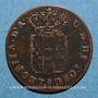 Monnaies Italie. Toscane. Léopold II (1824-1848 ; 1849-1859). Quattrino 1854