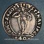 Monnaies Italie. Venise. Aloise Mocenigo (1570-1577). 40 soldi avec Sainte-Justine