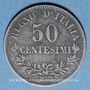 Monnaies Italie. Victor Emmanuel II (1861-1878). 50 centésimi 1863M. Milan
