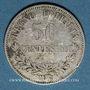 Monnaies Italie. Victor Emmanuel II (1861-1878). 50 centésimi 1867M. Milan
