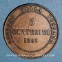 Monnaies Italie. Victor Emmanuel II, roi élu (1859-1861). 5 centesimi 1859. Birmingham