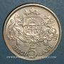 Monnaies Lettonie. République. 5 lati 1931
