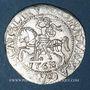 Monnaies Lituanie. Grand Duché. Sigismond III Auguste (1544-1572). 1/2 gros 1562