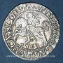 Monnaies Lituanie. Grand Duché. Sigismond III Auguste (1544-1572). 1/2 gros 1563. Différent : hache