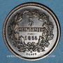 Monnaies Luxembourg. Guillaume III (1849-1890). 5 centimes 1855A