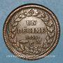 Monnaies Monaco. Honoré V (1819-1841). 1 décime 1838MC. Grosse tête