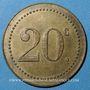 Monnaies Monaco. Ligue Monégasque. 20 centimes