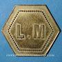 Monnaies Monaco. Ligue Monégasque. 50 centimes