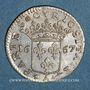 Monnaies Monaco. Louis I (1662-1701). 1/12 écu ou 5 sols, luigino 1667. Imitation de Dombes