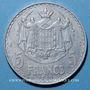 Monnaies Monaco. Louis II (1922-1949). 5 francs 1945
