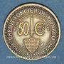 Monnaies Monaco. Louis II (1922-1949). 50 centimes 1924. Poissy