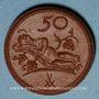 Monnaies Pologne. Ziebice. Münsterberg Schles. 50 pfennig. Porcelaine