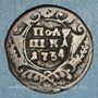 Monnaies Russie. Anne (1730-1740). 1 polushka 1734