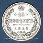 Monnaies Russie. Nicolas II (1894-1917). 15 kopecks 1912EB. Saint Petersbourg