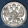 Monnaies Russie. Nicolas II (1894-1917). 15 kopecks 1914BC. Saint Petersbourg