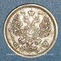 Monnaies Russie. Nicolas II (1894-1917). 20 kopecks 1906EB. Saint Petersbourg
