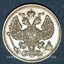 Monnaies Russie. Nicolas II (1894-1917). 20 kopecks 1913BC. Saint Petersbourg