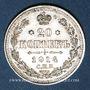 Monnaies Russie. Nicolas II (1894-1917). 20 kopecks 1914BC. Saint Petersbourg