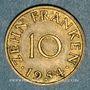 Monnaies Sarre. Département français (1945-1957). 10 franken 1954