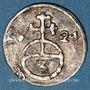 Monnaies Silésie. Ferdinand II (1619-1637). 3 pfennig 1624HR. Breslau