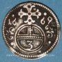 Monnaies Silésie. Léopold I (1657-1705). 3 pfennig 1669. Opole (Oppeln)