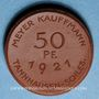 Monnaies Slovaquie. Jedlinka. Meyer Kauffmann. Tannhausen - Schles. 50 pfennig 1921. Porcelaine