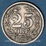 Monnaies Suède. Oscar II (1872-1907). 25 öre 1896EB