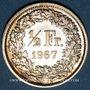 Monnaies Suisse. Confédération. 1/2 franc 1967