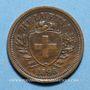 Monnaies Suisse. Confédération. 1 rappen 1898B