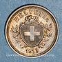 Monnaies Suisse. Confédération. 1 rappen 1913B