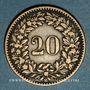 Monnaies Suisse. Confédération. 20 rappen 1858B