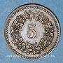 Monnaies Suisse. Ville de Bâle.Suisse. Allgemeine Consumverein. 5 cent