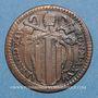 Monnaies Vatican. Benoît XIV (1740-1758). Quattrino 1756, an XVI
