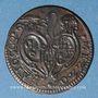 Monnaies Vatican. Bologne. Pie VI (1775-1799). 1/2 baiocco 1781, an VII