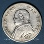Monnaies Vatican. Pie IX (1846-1878). 1 lire 1866R, an XXI. Petit buste