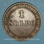 Monnaies Vatican. Pie IX (1846-1878). 1 soldo 1867 R, an XXI. Rome