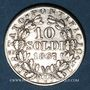 Monnaies Vatican. Pie IX (1846-1878). 10 soldi 1867/7R, an XXI. Rome