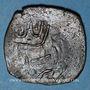 Monnaies Afghanistan. Shebarghan (vers 900H). Fals bronze anonyme, Shebargan. Inédit !