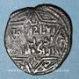 Monnaies al-Jazira. Ortoquides de Mardin. Yuluq Arslan (580-597H). Bronze, dirham au buste diadémé